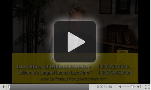 Lemon Law California >> California Lemon Law Videos